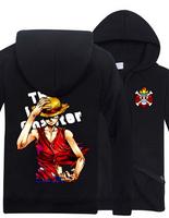 New Casual Winter Men Women One Piece Hoodie Monkey D Luffy Cardigan Zipper Jacket Hooded Coat 21 Optional
