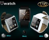 "Bluetooth Smart Watch 1.54"" Capacitive Touch Screen U Watch Life Waterproof Anti-lost Sleep Monitor PU Leather Strap 2014 New"