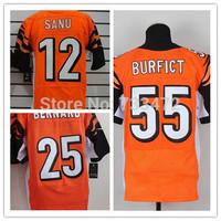 Cheap Wholesale American Bengals Jersey #55 Vontaze Burfict ,25 Giovani Bernard,12 Mohamed Sanu Mens Football Jerseys Elite