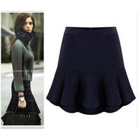 Women Skirts Winter Plus Size Womens Skirts Ruffles Autumn Winter Casual Woolen Skirts  Ladies Fish Tail Skirts XXS-6XL