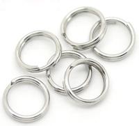 "DIY Jewelry Findings Wholesale 3x500PCs Silver Tone Stainless Steel Split Rings 7mm(1/4"")"