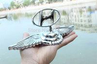 Angel eagle wing emblems for Hyundai Luxury 3D stereo car Badge Sticker Zinc Alloy car beacon for Hyundai Rainer/Tucson/ Elantra