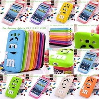 New Hot For samsung galaxy s3 case M&M chocolate candy rubber silicone back cases covers to samsung i9300 9300