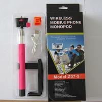 20pcs/lot Z07-5 2 in 1 Wireless Bluetooth Mobile Phone Monopod Selfie Stick Tripod Handheld Monopod For Smart Phone