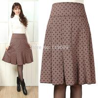 New Fashion Women Medium Skirts Mother Autumn Winter Dance A-Line Skirts Elegabt Casual Career Skirts S, M, L, XL,XXL,3XL, 4XL