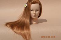 Mannequin Maniqui 100% High Temperature Hair Fiber Training Female Mannequin Head With Hair