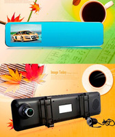 """Free Shipping 4.3"""" Rearview Mirror dash cam dual lens A108 with HD 1080P Front camera and Parking monitoring 24 hours"""