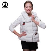 Fancyinn 2014 New Design Fashion Ladies Short Coat Winter Down Jackets Women's Winter Coat Jacket 3 Colors