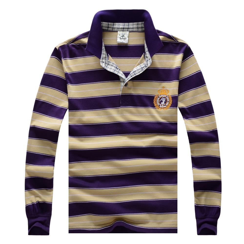 2014 fashion cotton collar POLO shirt, vintage sports jerseys golf tennis casual shirts,Cotton long-sleeved(China (Mainland))