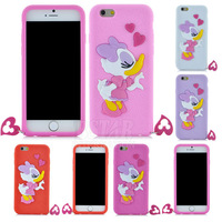 New Fashion 3D Cartoon Daisy Duck pattern back soft Cover phone case for iphone 6 PT1494