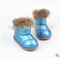 2014 winter Girls Fashion Snow Boots thicken warm waterproof No-slip Shoes
