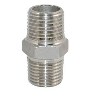 """Free Shipping 2x1/2"""" Malex 1/2"""" Male Hex Nipple Stainless Steel 304 Threaded Pipe Fitting NPT New(China (Mainland))"""