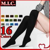 16 candy Colors women knee socks new 2014 100% cotton winter warm Lady Boot socks Slim long casual socks for women