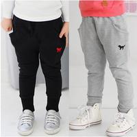 Free shipping 2014 new cute little dog children long trousers baby & kids full length pants boys & girls clothing kz-1121
