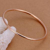 Drop Shipping New Rose Gold/ Sliver Plated Fashion Womens Elegant Smooth Single Ring Bangle Bracelet Jewelry LKNSPCB1435