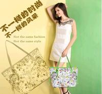 2014 High Quality Fashion Lady Shoulder Bag Retro Oil Painting Bag Flower Women Handbags Big Bag
