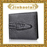 famous brand purse 100% genuine leather wallet crocodile head bifold men wallets hot sale promotion wallet 8038A