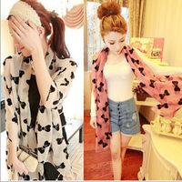 2014 NEW HOT Fashion Butterfly print  Women's long cotton Soft Scarves Muffler Promotional Discounts Chiffon Women Print Scarf