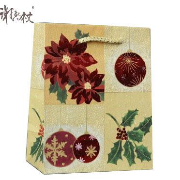 2014 Custom Made oem production matt lamination christmas Gift Bags with art Paper(China (Mainland))