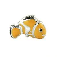 20pcs/lot Free Shipping Wholesale Alloy Diy Enamel Fish Floating Charm For Origami Owl Memory Living Locket