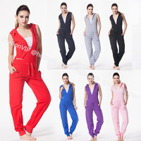 New Summer Sexy Sleeveless One Piece for Women Outdoor sports Pullover Pants overalls Jumpsuit Teddies Bodysuit Onesies rompers