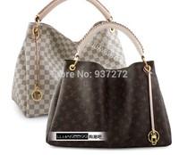 2014 Top designer louis Handbag Women's Shoulder bags white plaid Ladies particular tote bag M40249 Free Shipping big discount