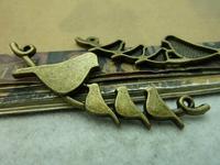 20Pcs Antique Bronze Tone Bird Branch Charms DIY Jewelry Making