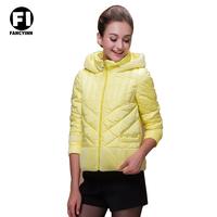 Fancyinn 2014 New Design Fashion 3 Colors Ladies Short Coat Winter White Durk Wool Down Jackets Slim Winter Coat Jacket