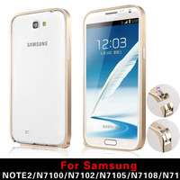 Free shipping FOR Samsung note2 thin metal frame hippocampus buckle N7100 N719 phone shell protective sleeve N7108 shell tide