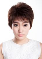 100% human hair wig classy style fresh style full cap ----Darlene
