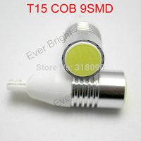 Super Bright!! 200pieces/lot T15 COB 9 SMD W5W 194 168 12V DC Leds 9 Led White Reading Light Parking Lamps Car Clearance Light