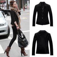 Casual Women Lapel Long Sleeve Classic All-match Oversized Blazer Outwear Coat Jacket #66146