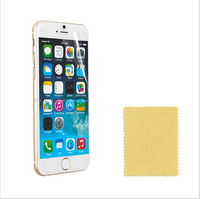 """200PCS=100PCS FRONT FILM +100PCS BACK FILMS High Clear Screen Protector Film For iPhone 6    4.7""""  have cloth"""