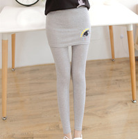 2014 New fashion Winter Faux Two Piece Casual cotton slim leggings skirt designer Eyes embroidery leggings 3 color
