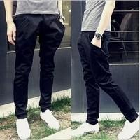 Fashion Men's Korean Casual Slim Fit Pants Trousers Elastic Harem New Style Pants