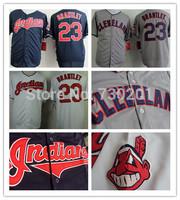 Michael Brantley Jersey White Dark Blue Grey Cleveland Indians Jerseys Cool Base