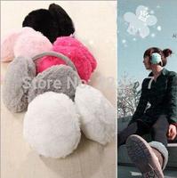 Korean Wild Winter Warm Ear Muffs Plush Earmuffs Lovely Solid Back Wearing Ears Warmer Genie Costumes Celular Cache Oreilles