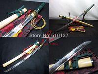 "40.6"" battle ready japanese katana sword sea gull tsuba 9260 spring steel blade sharp"