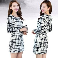 S M L XL XXL XXXL Size 2014 Fashion Women Sheath Sexy Dresses Casual Dresses Regular & Plus Thickness For Winter XZX19014