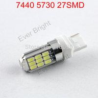 Super Bright!! 30pieces/lot T20 5730 27 SMD 7440 7443 12V DC Leds 27 Led Parking Light Turn Signal Bulbs Brake Led Lighting
