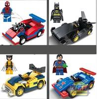 4pcs/lot 2014 New SY The Avengers Building Batmobile Bricks Blocks Sets Super Hero
