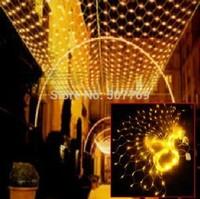 LED 3M*3M 400 LEDs Web Net Fairy Christmas home garden Light curtain Net lights net lamps add tail plug