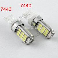 Wholesale Price!!100pieces/lot T20 5730 27 SMD 7440 7443 12V DC Leds 27 Led Parking Light Turn Signal Bulbs Brake Led Lighting