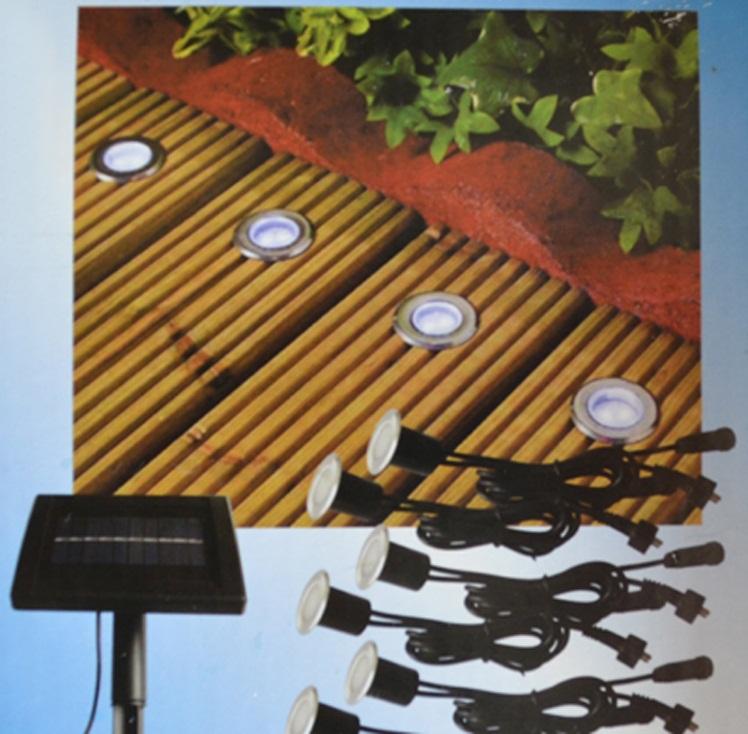 Outdoor lighting solar stainless underground 16 led brick - Iluminacion exterior led solar ...