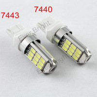 Free Shipping!! 4pieces/lot T20 5730 27 SMD 7440 7443 12V DC Leds 27 Led Parking Light Turn Signal Bulbs Brake Led Lighting