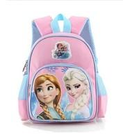 FROZEN child princess Anna Elsa  backpack schoolbag high quality adjustable 11inch schoolbag nursery students Shoulders backpack
