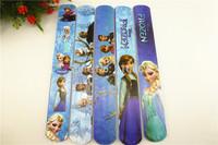 hot sell !! 2014 popular MIXED Elsa Anna Olaf  Frozen  Magic Ruler Slap Band Bracelets / bangles  SL-101