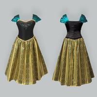Hot Frozen Elsa & Anna Dress For Girl Princess Cosplay/New Arrived Princess Dress/Popular Party Dress