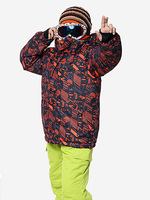 Boy and girl`s ski suit professional outdoor cold-proof thermal windproof ski suit female child outdoor jacket