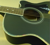 black 40inch  acoustic guitar  WITH free string+free shipping with attractive good handicraft